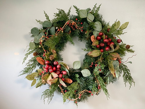 Holiday Winter Pine Wreath