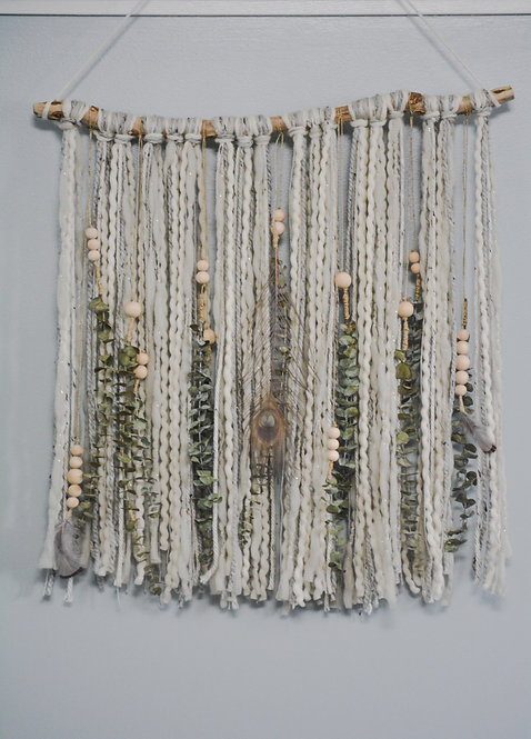 Drift Wood and Eucalyptus Wall Hanging
