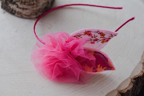 The Pink Floral Petal Headband
