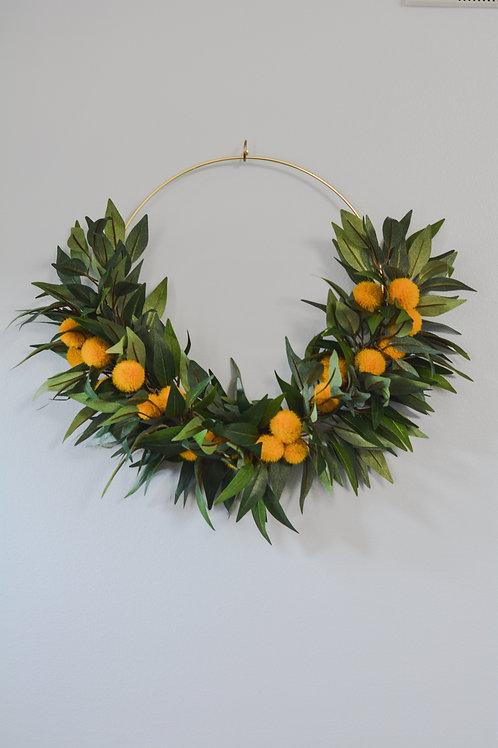 Billy Button Floral Wreath