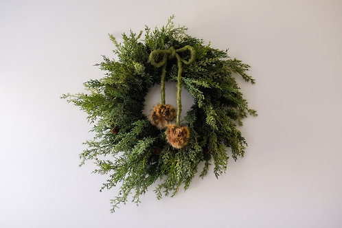 The Glistening Forest Holiday Wreath