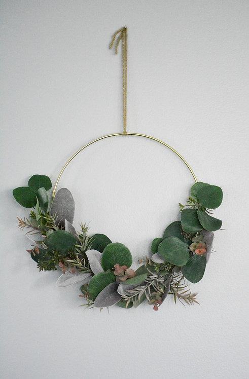 Eucalyptus Peace Floral Wall Ring