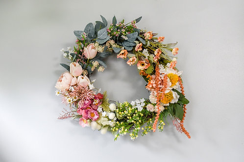 Flower/Color Block Wreath