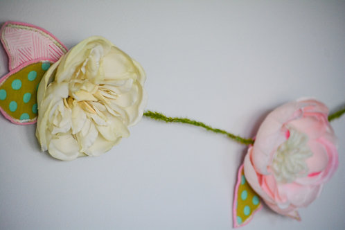 Mix-Matched Cabbage Rose Petal Garland