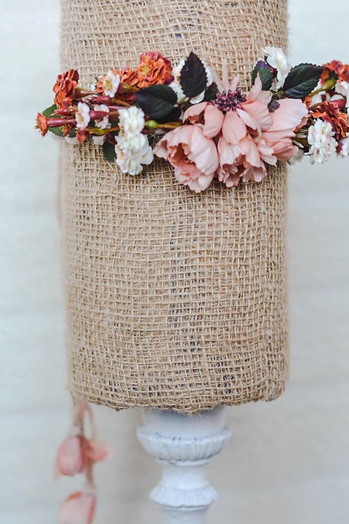 The H A R V E S T Finley Pompom Floral Crown