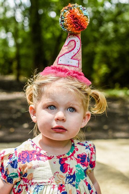 Custom Pompom Birthday Hat