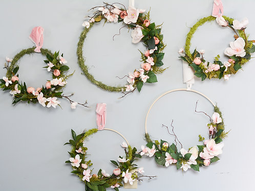 Floral & Moss Wall Hoops