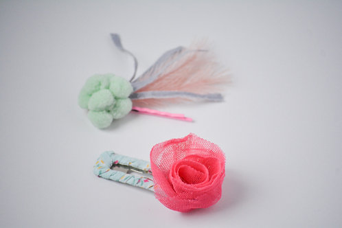 Spring Flair Bobby Clip Set