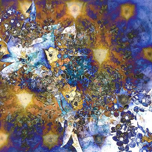 Bradford Pear Blossom Blue/Gold