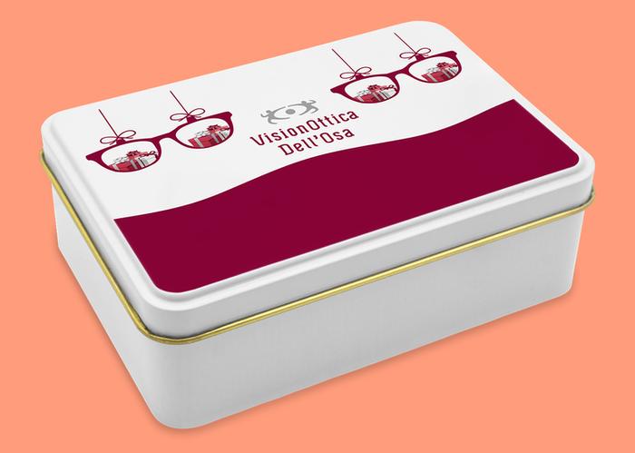 bacche di goji pubblicitarie Lugano in scatola di latta personalizzata