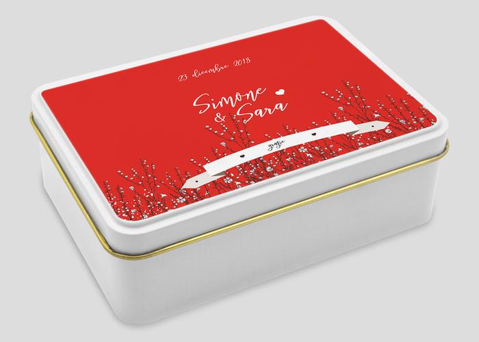 frutta essiccata promozionale Venezia in scatola di metallo personalizzata
