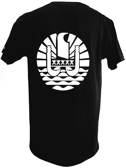 Réf: TH12 Tee shirt homme DRAPEAU POLYNESIEN