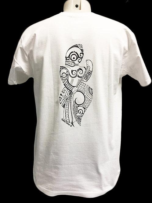 Réf : THblanc04  Tee-shirt homme  TIKI