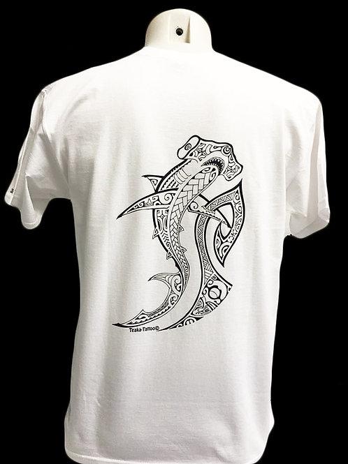 Réf:THblanc01  Tee-shirt homme REQUIN