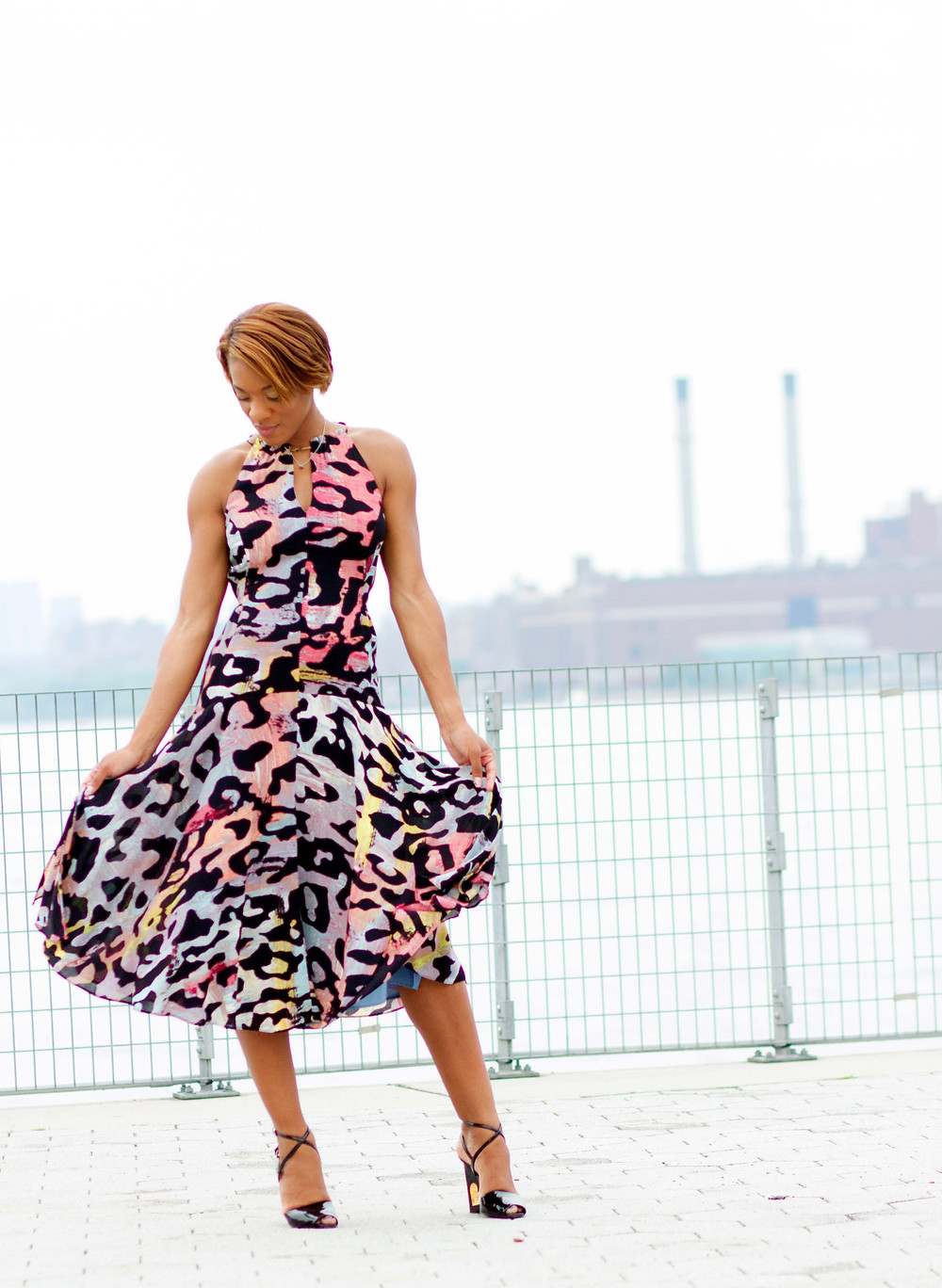 Rachel Rachel Roy Claudette Tie-Front Midi Dress