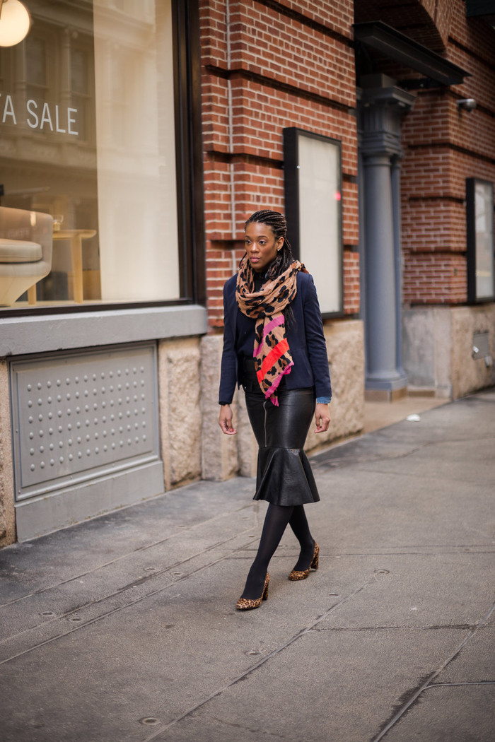 Winter Fashion: The Combination I Can't Get Enough of, Leather and Denim!