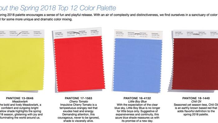 Spring 2018 Pantone Colors