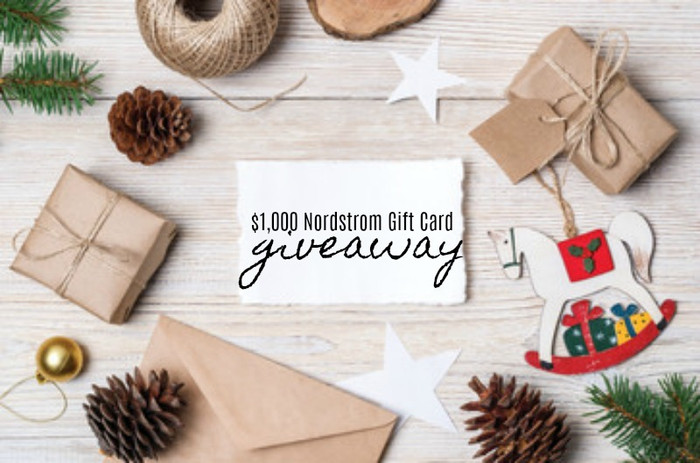 $1,000 Nordstrom Giftcard Giveaway