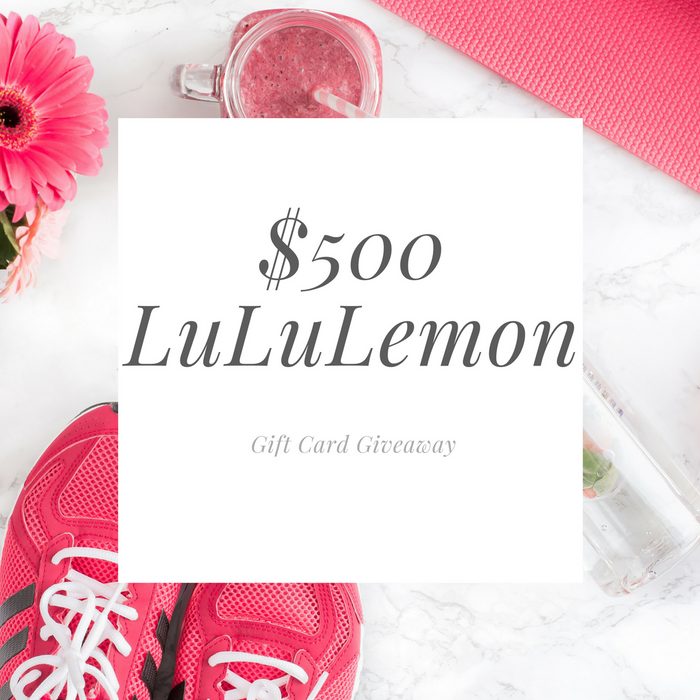 New Year, New You! Lululemon $500 Giveaway!!