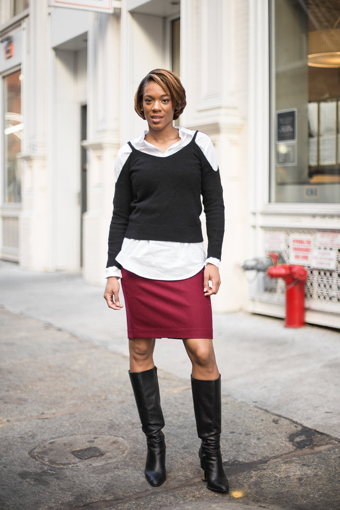 Fall Weather Calls for Wine Skirts and Layering!