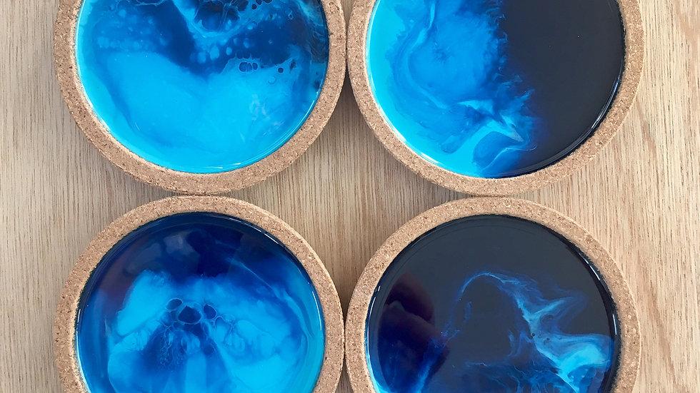 Ocean Coasters set of four