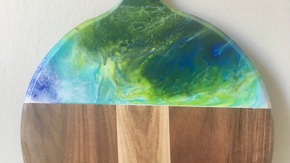 Round cheeseboard paddle
