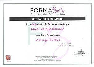 attestation de formation massage suédois à Moulès et Baucels Ganges