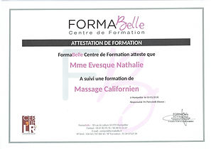 attestation de formation massage californien à Moulès et Baucels Ganges