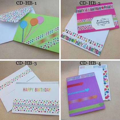 Handmade Cards-Happy Birthday