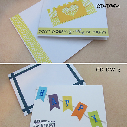 Handmade Cards-Don't Worry, Be Happy
