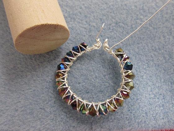 Pattern- Beaded Wire Hoops