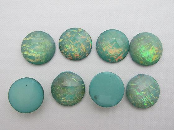 18mm Resin Turquoise Shimmer