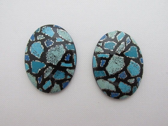 40x30mm Resin Colorblock Blue
