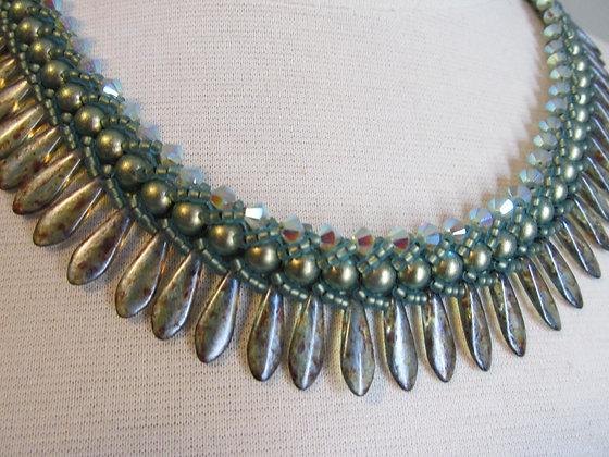 Swarovski Flat Spiral with daggers Necklace