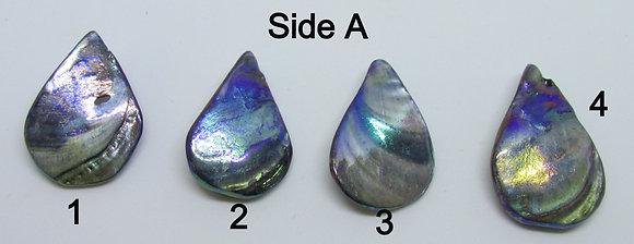 Oil Slick Abalone Pendant