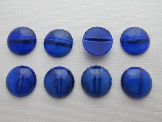 18mm Glass Cats Eye Sapphire