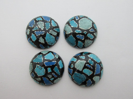 30mm Resin Colorblock Blue