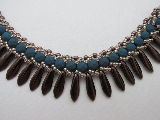 Flat Spiral with daggers Necklace- Riverbrook