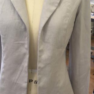Sewn Linen Jacket