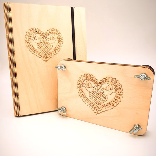 Valentines Set - Book and Flower press