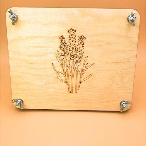 Large Lavender Flower Press