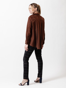 8802 Pleat Back Shirt, 7716 Wide Waist Slim Leg