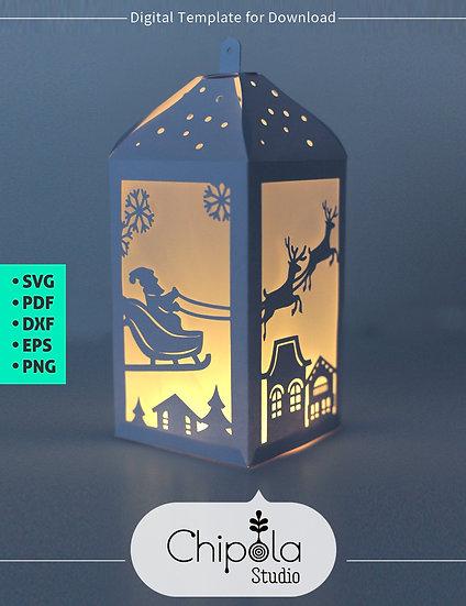 Christmas Lantern Digital Downloadable Template
