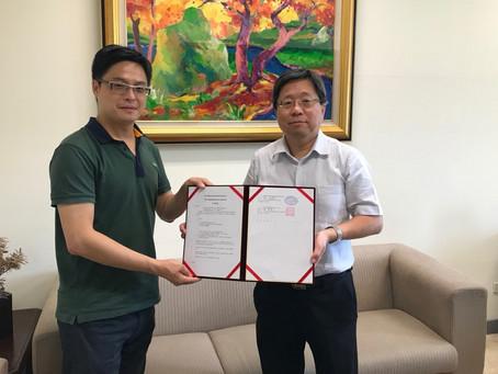 沛智生醫和台灣大學生醫電資所簽定產學合作協議,提供研究生實習機會。