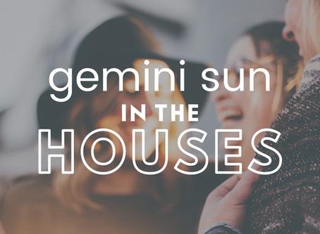 Gemini Sun In The Houses