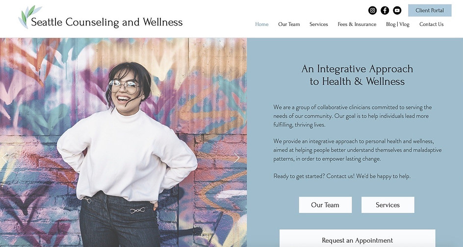 Counseling Group Practice | Wix Brochure Site & Blog
