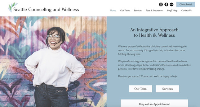 Counseling Group Practice   Wix Brochure Site & Blog