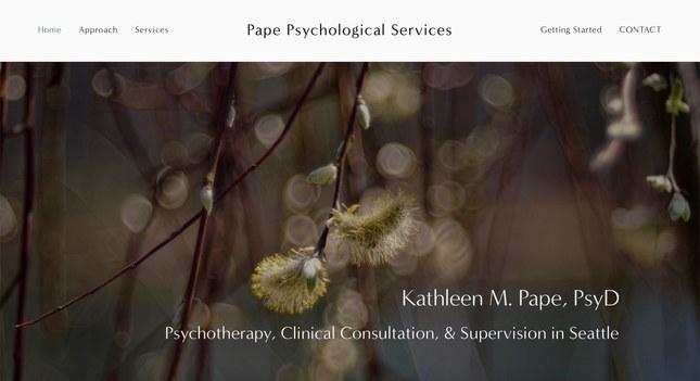 Psychological Services   Squarespace Brochure Site
