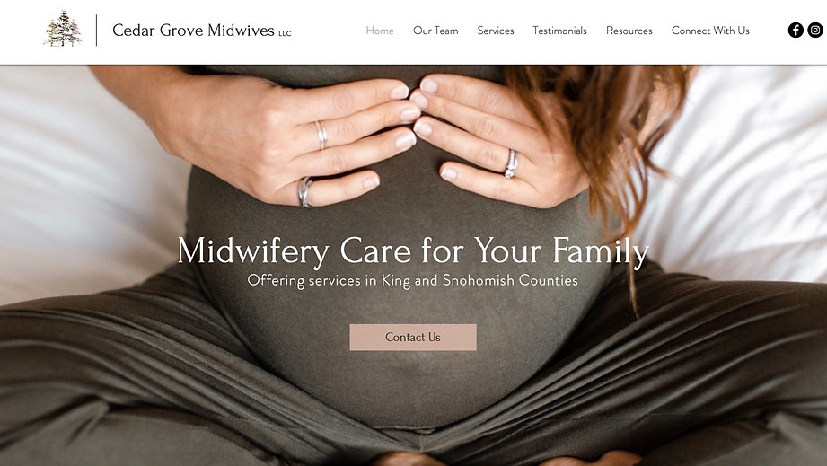 Midwifery Services | Wix Brochure Site