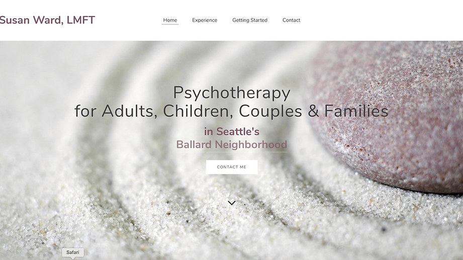 Psychotherapy Practice | Weebly Brochure Site & Headshot Photography